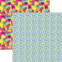 Reminisce - 90's Flashback Collection - 12 x 12 Double Sided Paper - Let's Party