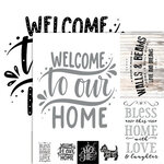 Ella and Viv Paper Company - Frameable Quotes Collection - 12 x 12 Double Sided Paper - Home with Foil Accents