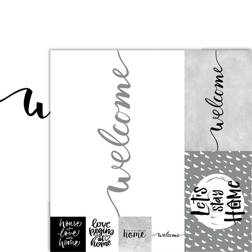 Ella and Viv Paper Company - Frameable Quotes Collection - 12 x 12 Double Sided Paper - Welcome with Foil Accents