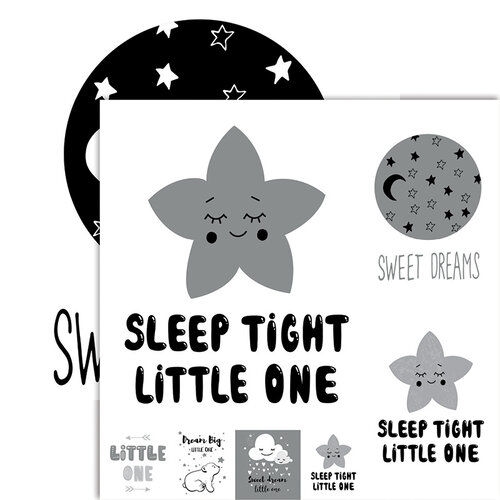 Ella and Viv Paper Company - Frameable Quotes Collection - 12 x 12 Double Sided Paper - Sleep Tight with Foil Accents
