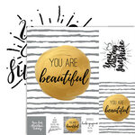 Ella and Viv Paper Company - Frameable Quotes Collection - 12 x 12 Double Sided Paper - Beautiful with Foil Accents