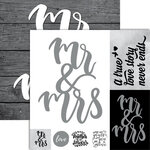 Ella and Viv Paper Company - Frameable Quotes Collection - 12 x 12 Double Sided Paper - Mr & Mrs with Foil Accents