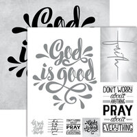 Ella and Viv Paper Company - Frameable Quotes Collection - 12 x 12 Double Sided Paper - Faith