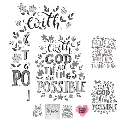 Ella and Viv Paper Company - Frameable Quotes Collection - 12 x 12 Double Sided Paper - Possibilities with Foil Accents