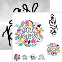 Ella and Viv Paper Company - Frameable Quotes Collection - 12 x 12 Double Sided Paper - Girl Power with Foil Accents