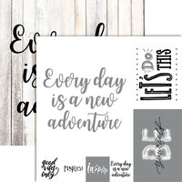 Ella and Viv Paper Company - Frameable Quotes Collection - 12 x 12 Double Sided Paper - New Adventures with Foil Accents