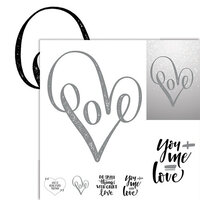 Ella and Viv Paper Company - Frameable Quotes Collection - 12 x 12 Double Sided Paper - Love 2 with Foil Accents