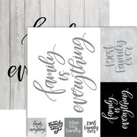 Ella and Viv Paper Company - Frameable Quotes Collection - 12 x 12 Double Sided Paper - Family with Foil Accents