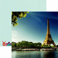 Reminisce - France Collection - 12 x 12 Double Sided Paper - Eiffel Tower