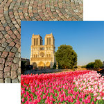 Reminisce - France Collection - 12 x 12 Double Sided Paper - Notre Dame