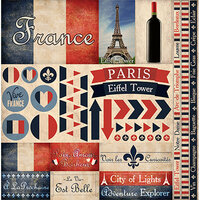 Reminisce - France Collection - 12 x 12 Cardstock Stickers - Elements