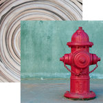 Reminisce - Firefighter Collection - 12 x 12 Double Sided Paper - Hydrant