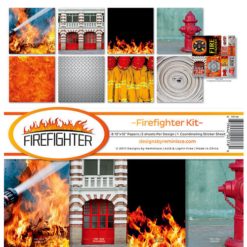 Reminisce - Firefighter Collection - 12 x 12 Collection Kit