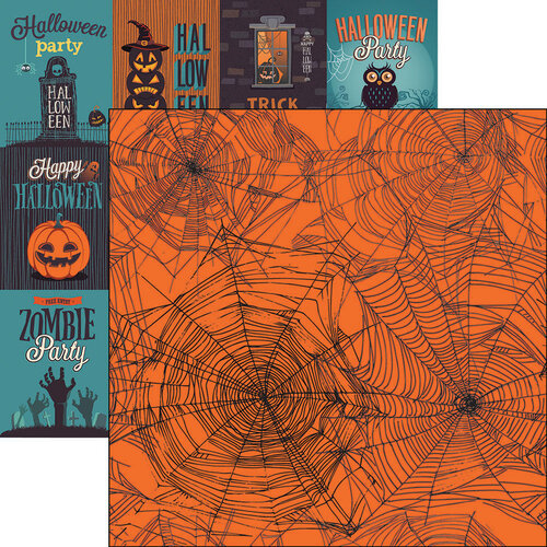 Reminisce - 12 x 12 Double Sided Paper - Spider Web 1