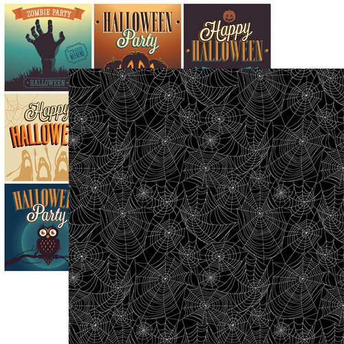 Reminisce - 12 x 12 Double Sided Paper - Spider Web 2