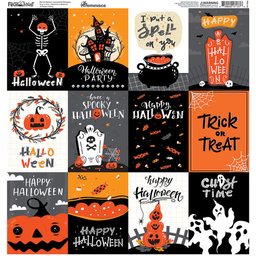 Reminisce - 12 x 12 Cardstock Stickers - Fright Night