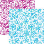 Reminisce - Frosted Collection - 12 x 12 Double Sided Paper - Snowflake