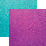 Reminisce - Frosted Collection - 12 x 12 Double Sided Paper - Glitter Frost