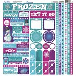 Reminisce - Frosted Collection - 12 x 12 Cardstock Stickers - Multi