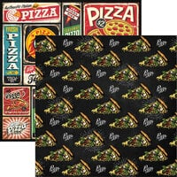 Reminisce - Food Truck Fest Collection - 12 x 12 Double Sided Paper - Pizza