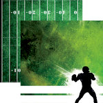 Reminisce - Football 2 Collection - 12 x 12 Double Sided Paper - Scramble