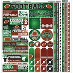 Reminisce - Football Collection - 12 x 12 Cardstock Stickers - Multi