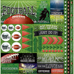 Reminisce - Football 2 Collection - 12 x 12 Cardstock Stickers - Elements