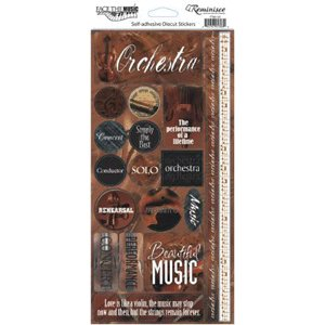 Reminisce - Sound of Music - Cardstock Stickers - Orchestra, CLEARANCE