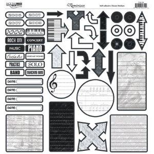 Reminisce - Sound of Music - 12x12 Sticker - Music Journal Sticker