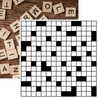 Reminisce - Game Night Collection - 12 x 12 Double Sided Paper - Crossword