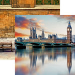 Reminisce - Great Britain Collection - 12 x 12 Double Sided Paper - Westminster