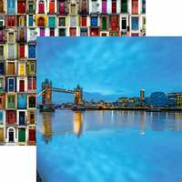 Reminisce - Great Britain Collection - 12 x 12 Double Sided Paper - Tower Bridge