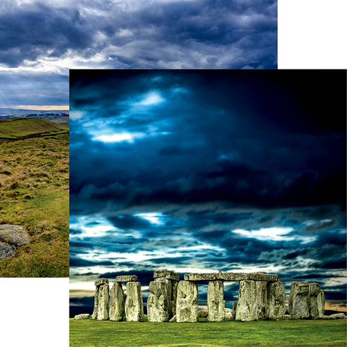 Reminisce - Great Britain Collection - 12 x 12 Double Sided Paper - Stonehenge