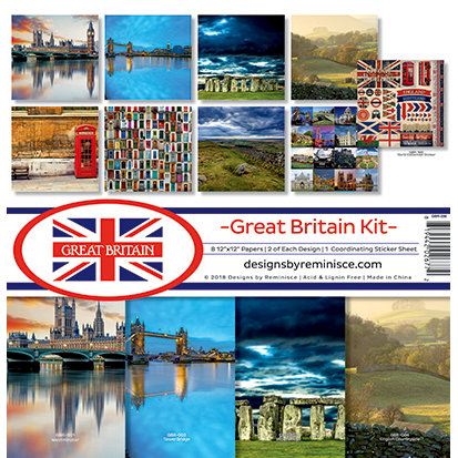 Reminisce - Great Britain Collection - 12 x 12 Collection Kit