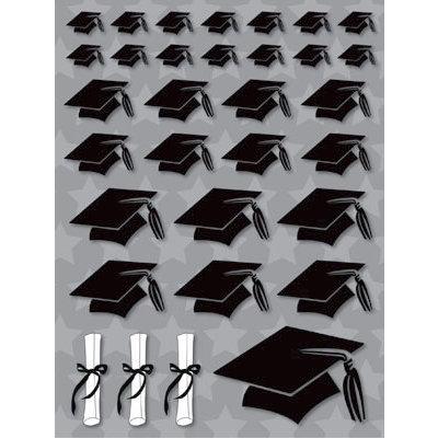 Reminisce - Graduation Collection - 3 Dimensional Stickers - Grad Hats