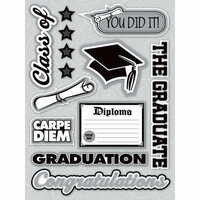 Reminisce - Graduation Collection - 3 Dimensional Stickers - Words