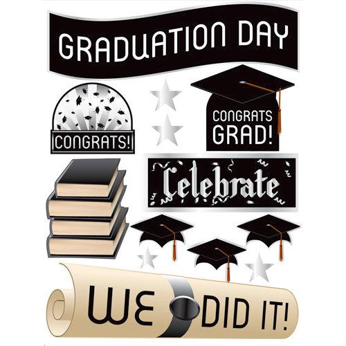 Reminisce - Graduation Celebration Collection - 3 Dimensional Die Cut Stickers - Graduation Celebration