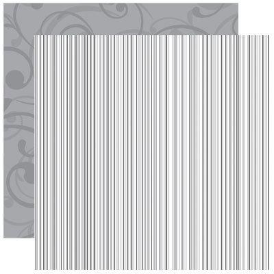 Reminisce - Graduation Celebration Collection - 12 x 12 Double Sided Shimmer Paper - Graduation Stripe