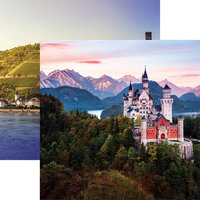 Ella and Viv Paper Company - Germany Collection - 12 x 12 Double Sided Paper - Neuschwanstein