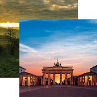 Ella and Viv Paper Company - Germany Collection - 12 x 12 Double Sided Paper - Brandenburg Gate