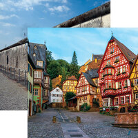 Ella and Viv Paper Company - Germany Collection - 12 x 12 Double Sided Paper - Old Town