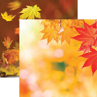 Ella and Viv Paper Company - Glorious Autumn Collection - 12 x 12 Double Sided Paper - Glorious Autumn