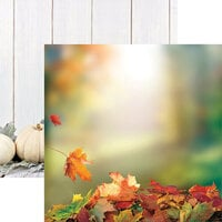 Ella and Viv Paper Company - Glorious Autumn Collection - 12 x 12 Double Sided Paper - Leaf Pile