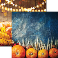 Ella and Viv Paper Company - Glorious Autumn Collection - 12 x 12 Double Sided Paper - Pumpkin Spice