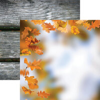 Ella and Viv Paper Company - Glorious Autumn Collection - 12 x 12 Double Sided Paper - Golden Fall
