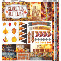 Ella and Viv Paper Company - Glorious Autumn Collection - 12 x 12 Cardstock Stickers - Elements