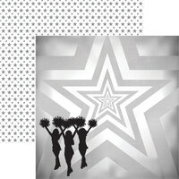 Reminisce - Cheerleading Collection - 12 x 12 Double Sided Paper - Game Day