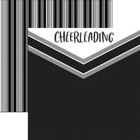 Reminisce - Cheerleading Collection - 12 x 12 Double Sided Paper - Cheer
