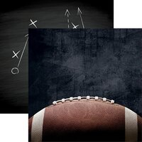Reminisce - Game Day Football Collection - 12 x 12 Double Sided Paper - Pigskin