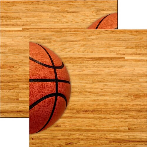 Reminisce - Game Day Basketball Collection - 12 x 12 Double Sided Paper - Game Day